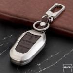 Schlüssel Cover aus Alu für Citroen Schlüsseltyp C2 braun
