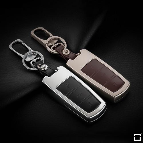 Alu Hartschalen Schlüssel Case passend für Volkswagen Autoschlüssel  HEK2-V6