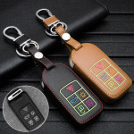 Luminous glow leather key case/cover for Volvo car keys