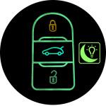Luminous glow leather key case/cover for Opel, Citroen, Peugeot car keys