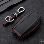 Leather case for BMW keys, key type B8 black