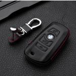 Leather case for BMW keys, key type B4/B5 black