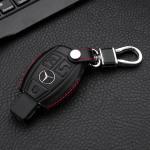 Leather case for Mercedes-benz keys, key type M7 black