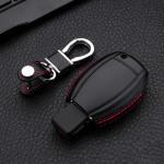Leder Hartschalen Cover passend für Mercedes-Benz Schlüssel schwarz LEK48-M7-1