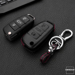 Leather key case for AUDI, key type AU3
