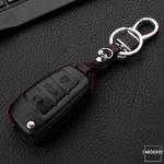 Leather key case for AUDI, key type AU3
