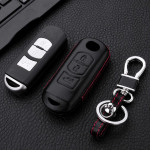 Leather key case for MAZDA, key type MZ2