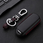 Leather key case for MAZDA, key type MZ2
