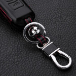 Leder Hartschalen Cover passend für Mazda Schlüssel schwarz LEK48-MZ2