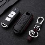 Leder Hartschalen Cover passend für Mazda Schlüssel schwarz LEK48-MZ2-1