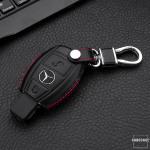 Leather case for Mercedes-benz keys, key type M6 black