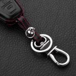 Leder Hartschalen Cover passend für Ford Schlüssel schwarz LEK48-F4