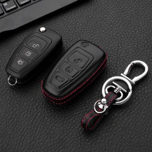 Leather case for Ford keys, key type F4 black