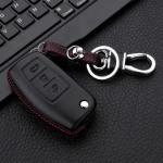 Leder Hartschalen Cover passend für Ford Schlüssel schwarz LEK48-F1