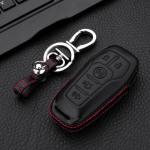 Leder Hartschalen Cover passend für Ford Schlüssel schwarz LEK48-F7