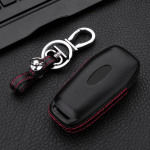 Leather key case for Ford, key type F7 black