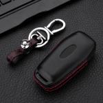 Leder Hartschalen Cover passend für Ford Schlüssel schwarz LEK48-F7-1
