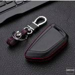 Schlüssel Cover Leder, für BMW Funkfernbedienung, Schlüsseltyp B5/B6