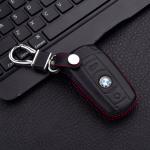 Leder Hartschalen Cover passend für BMW Schlüssel schwarz LEK48-B3X