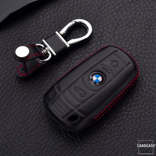 Schlüssel Cover Leder, für BMW Funkfernbedienung, Schlüsseltyp B3X black