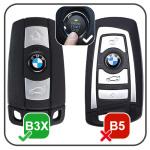 Leder Hartschalen Cover passend für BMW Schlüssel schwarz LEK48-B3X-1
