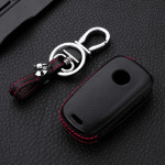 Leather case for Opel keys, key type OP6 black