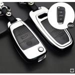 Schlüssel Cover aus Alu für AUDI Schlüsseltyp AU3 black