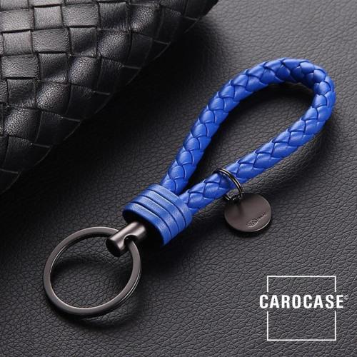 Schlüsselanhänger Lederband inkl. Schlüsselring anthrazit/blau SAR7-32