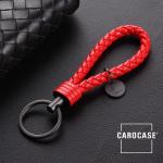 Schlüsselanhänger Lederband inkl. Schlüsselring anthrazit/rot SAR7-31