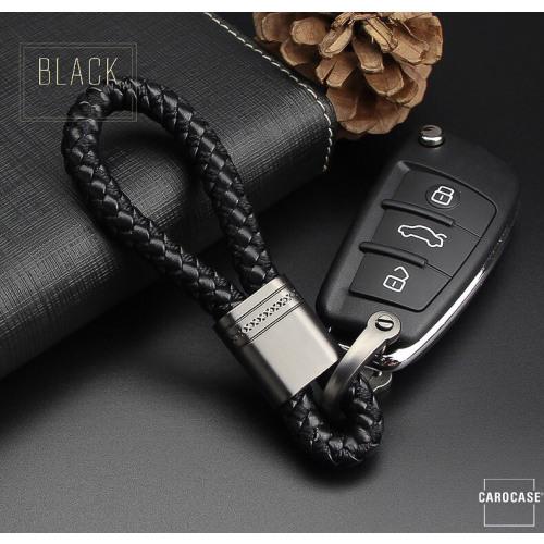 Schlüsselanhänger Lederband  SAR1- anthrazit/schwarz