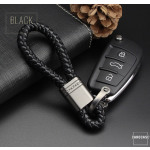 Leather strap, key chain anthracite/black