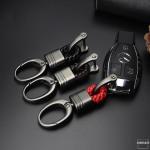 Mini Schlüsselanhänger Lederband mit Karabiner anthrazit/schwarz SAR2-51