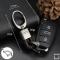 Mini Schlüsselanhänger Lederband mit Karabiner anthrazit/dunkelbraun SAR2-65