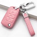 Schlüsseletui für Volkswagen Autoschlüssel aus echtem Leder, Schlüsseltyp V8x