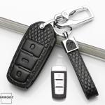 BLACK-ROSE Leder Schlüssel Cover für Volkswagen Schlüssel rosa LEK4-V5