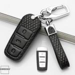Kopie von Lederetui für Volkswagen Autoschlüssel, Schlüsseltyp V6
