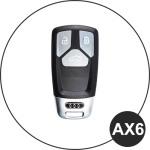 BLACK-ROSE Leder Schlüssel Cover für Audi Schlüssel  LEK4-AX6
