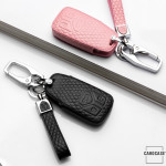 Lederetui für Audi Autoschlüssel, Schlüsseltyp AU6 black