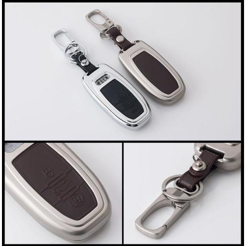 Alu Hartschalen Schlüssel Case passend für Audi Autoschlüssel  HEK2-AX4