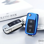Glossy key case/cover for Volkswagen, Skoda, Seat remote...