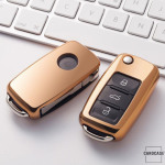 Glossy key case/cover for Volkswagen, Skoda, Seat remote keys  SEK2-V2
