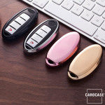 Glossy key case/cover for Nissan remote keys gold SEK2-N5-16