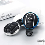 Glossy Silikon Schutzhülle / Cover passend für MINI Autoschlüssel MC3 schwarz