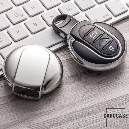 Glossy key case/cover for MINI remote keys silver SEK2-MC3-15
