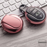 Glossy Silikon Schutzhülle / Cover passend für MINI Autoschlüssel MC3 rosa