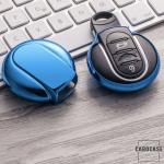 Glossy key case/cover for MINI remote keys blue SEK2-MC3-4