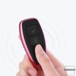 Glossy Silikon Schutzhülle / Cover passend für Ford Autoschlüssel F5 silber