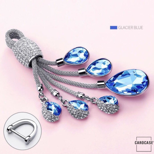 Dekorativer Schlüsselanhänger inkl. Karabiner in 5 verschiedenen Farben blau