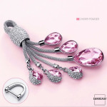 Dekorativer Schlüsselanhänger inkl. Karabiner in 5 verschiedenen Farben rosa