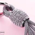 Dekorativer Schlüsselanhänger inkl. Karabiner in 5 verschiedenen Farben silber
